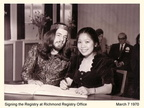 SIGNING THE WEDDING REGISTRY 1970