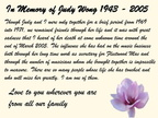 A TRIBUTE TO JUDY